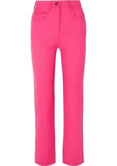 Kenzo Cropped Wool-blend Gabardine Straight-leg Pants