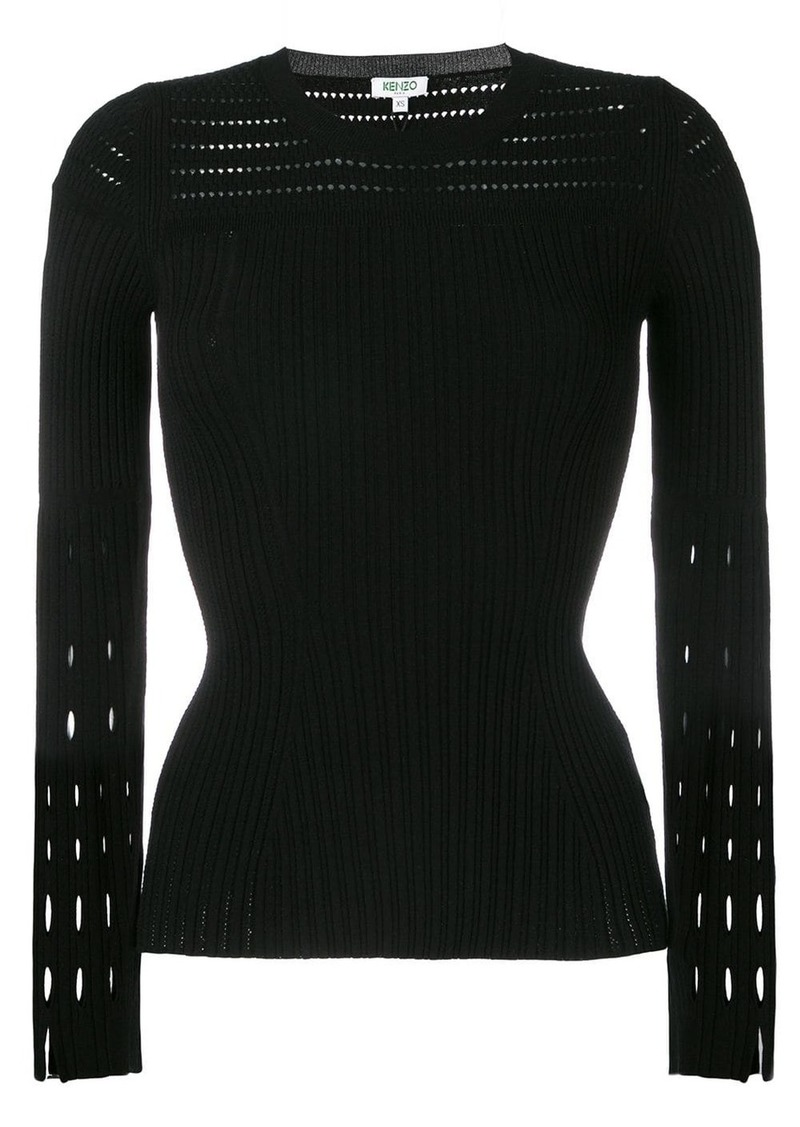 Kenzo cut-detail pleated top