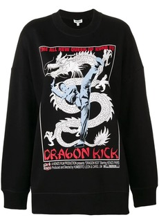 Kenzo dragon printed knitted top