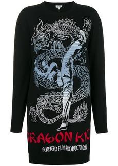 Kenzo Dragon sweatshirt dress