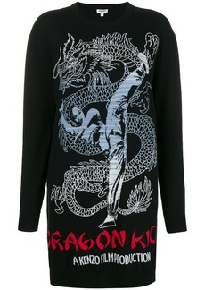 Kenzo Dragon sweatshirt dress