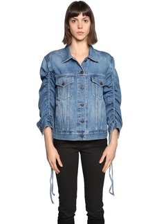 Kenzo Drawstring Sleeve Denim Jacket