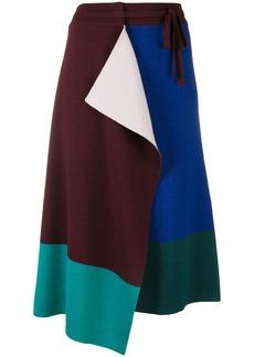 Kenzo drawstring wrap skirt