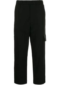 Kenzo elastic waist straight trousers