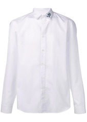 Kenzo embroidered collar long-sleeved shirt