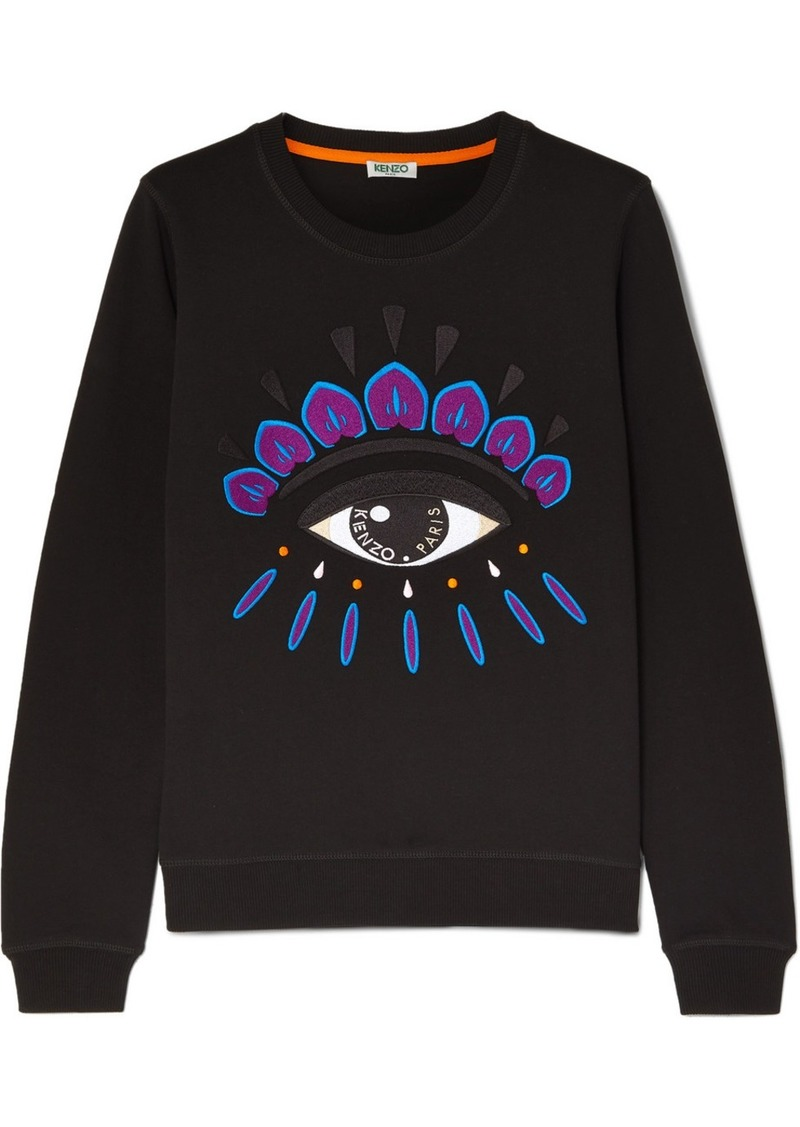 Kenzo Embroidered Cotton-jersey Sweatshirt