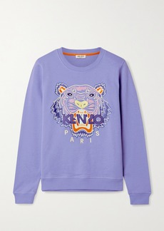 Kenzo Embroidered Cotton-jersey Sweatshirt