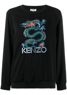 Kenzo embroidered dragon jumper