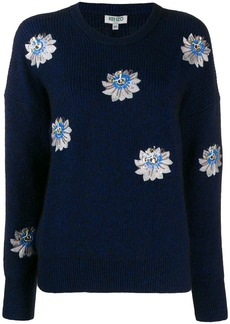Kenzo embroidered floral jumper