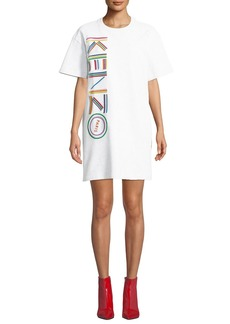 Kenzo Embroidered Logo Crewneck Tee Dress