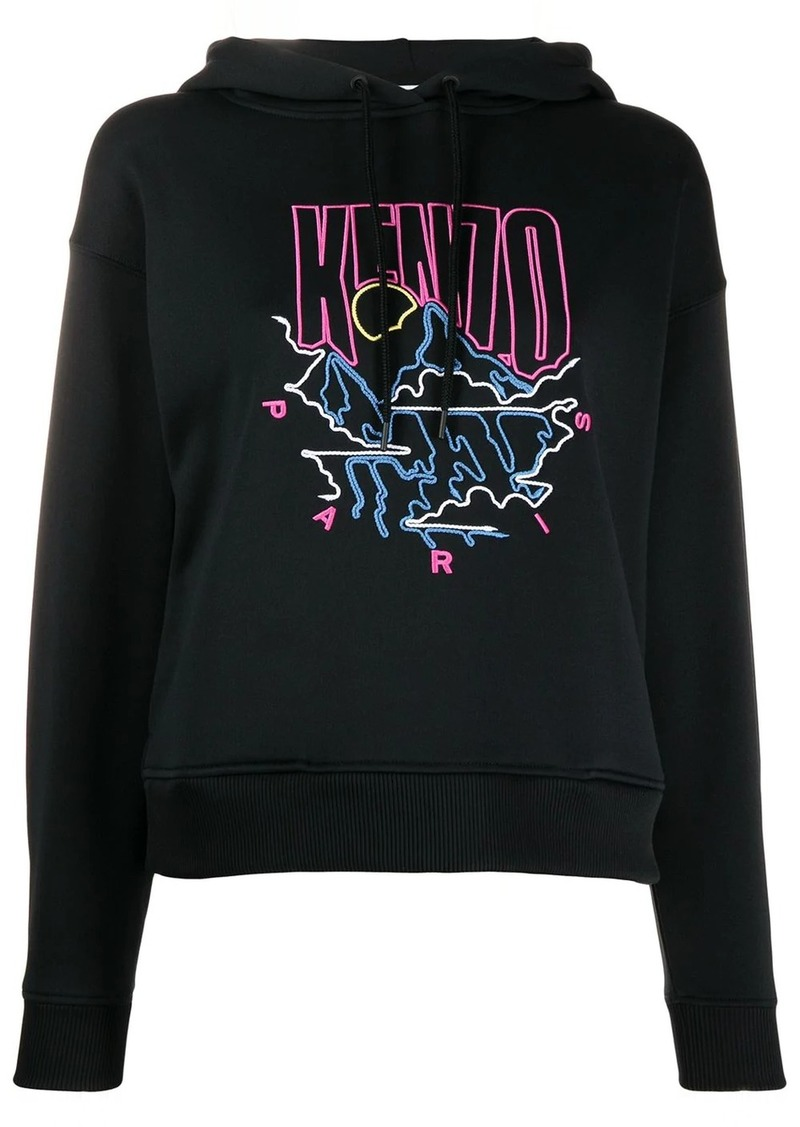 Kenzo embroidered logo hoodie