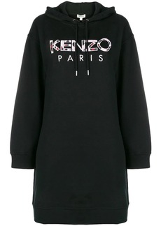 Kenzo embroidered logo sweatshirt dress