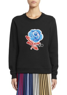 Kenzo Embroidered Rose Sweatshirt
