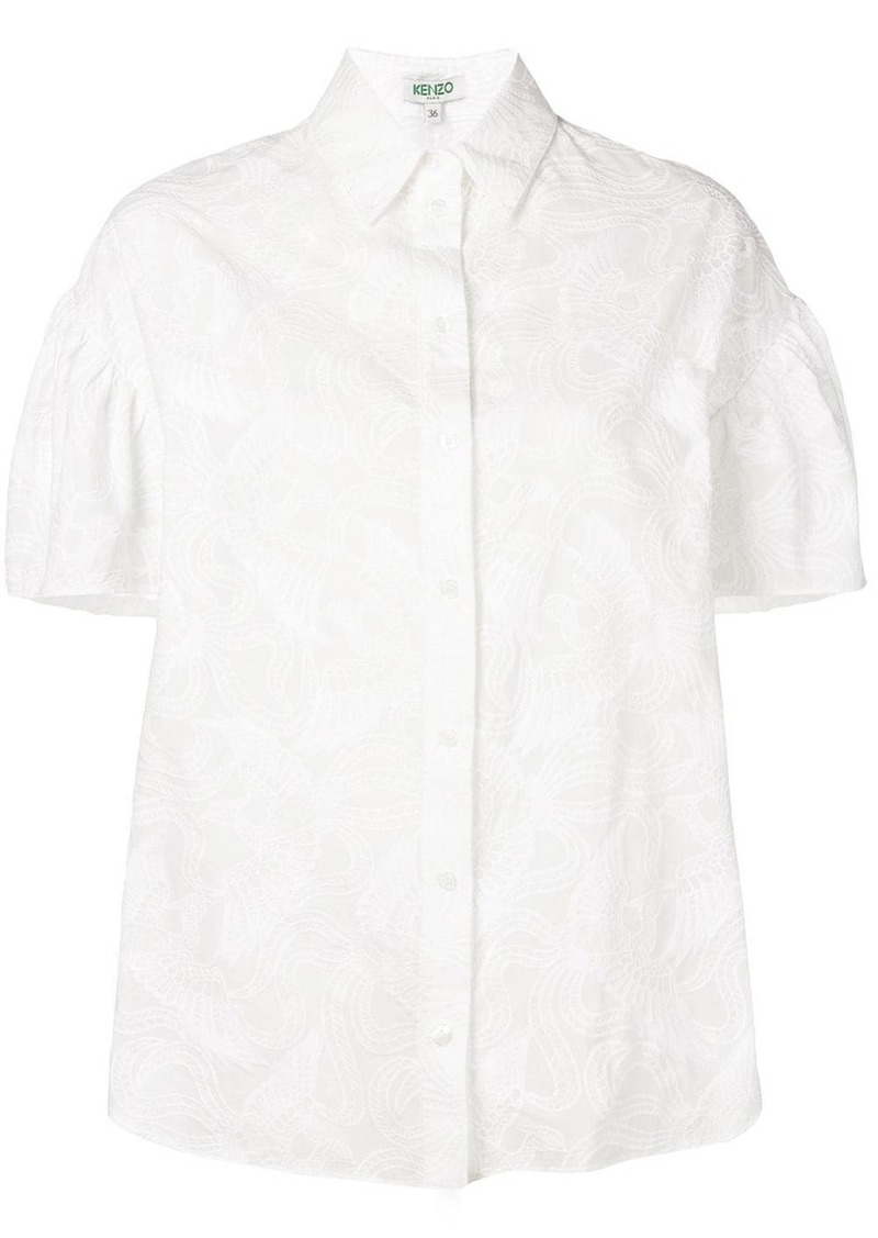 Kenzo embroidered short sleeve shirt