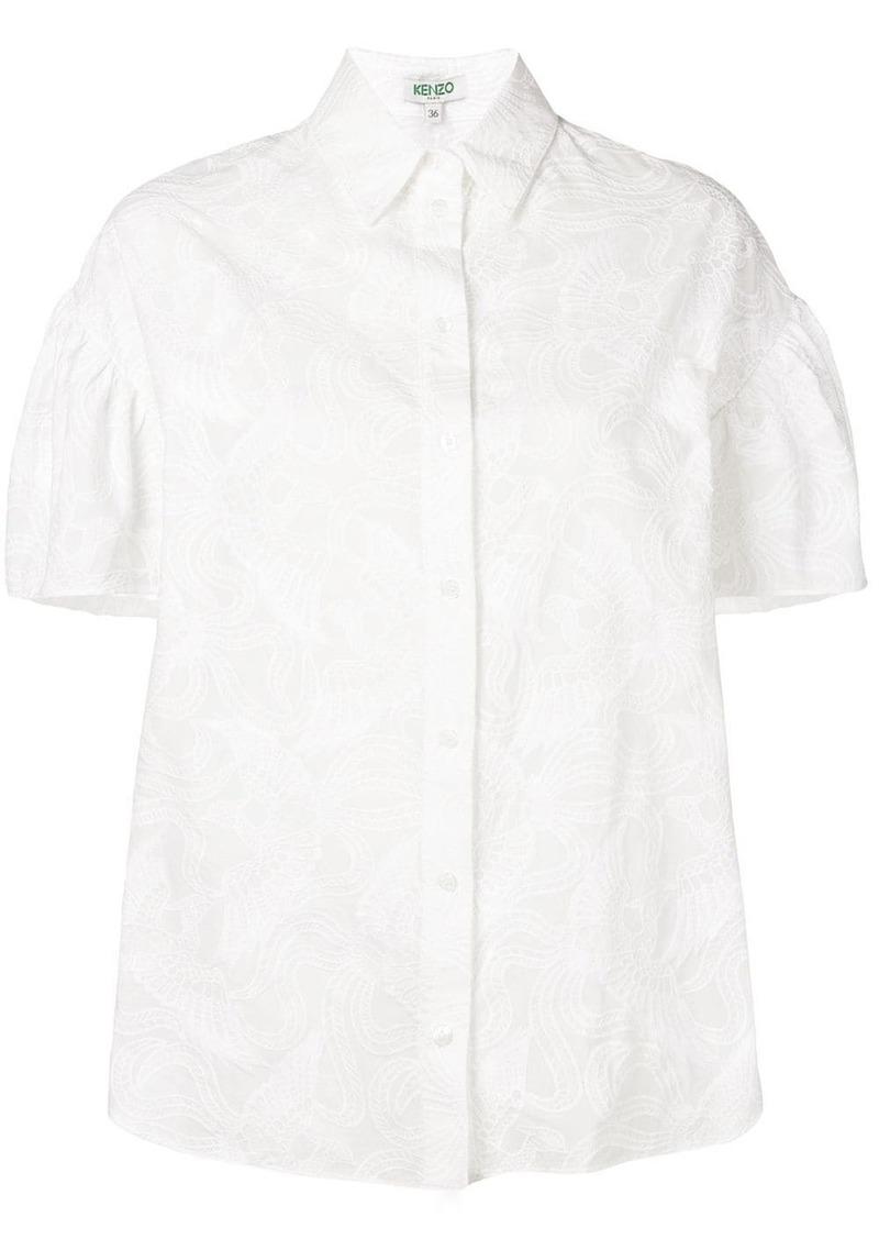 Kenzo embroidered short sleeve shirt
