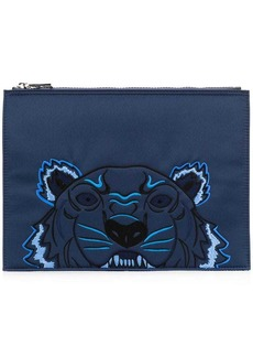 Kenzo embroidered tiger clutch bag