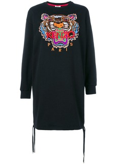 Kenzo embroidered tiger jersey dress