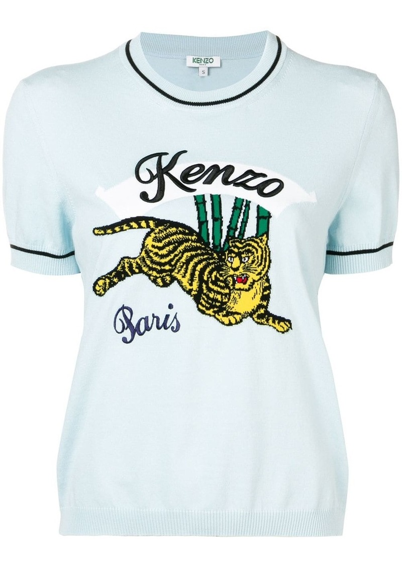 Kenzo embroidered tiger logo T-shirt