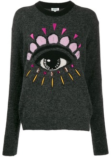 Kenzo eye embellished sweater