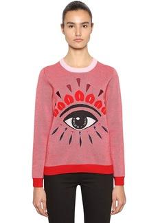 Kenzo Eye Embellished Wool Blend Sweater