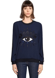 Kenzo Eye Embroidered Crepe Sweatshirt