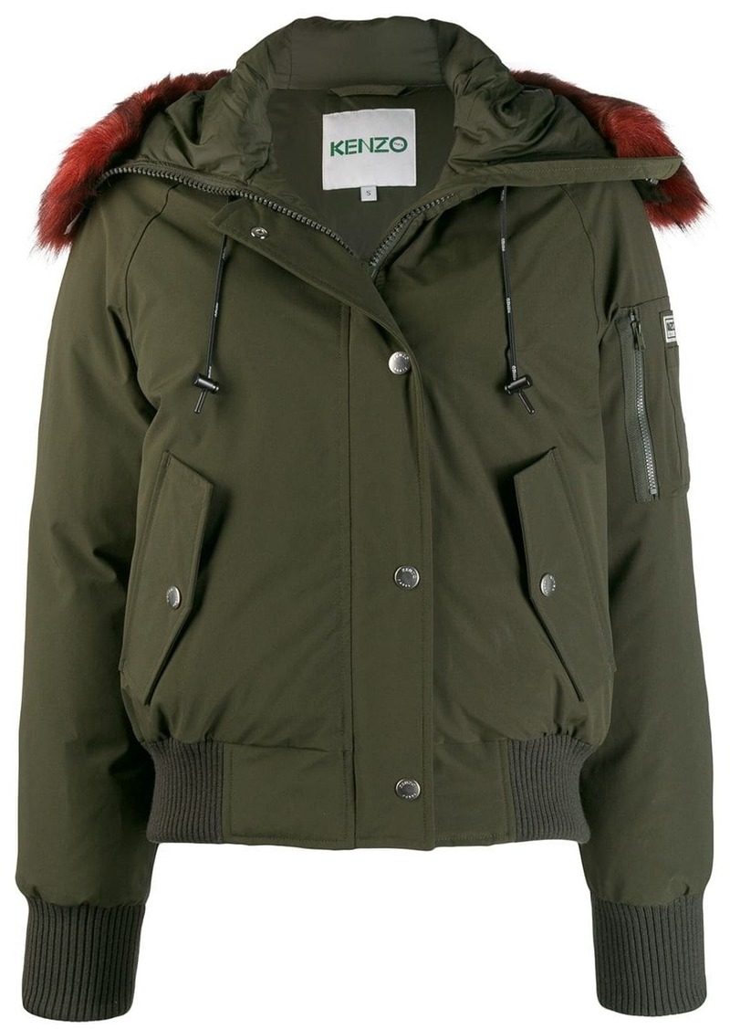 Kenzo faux fur hooded jacket