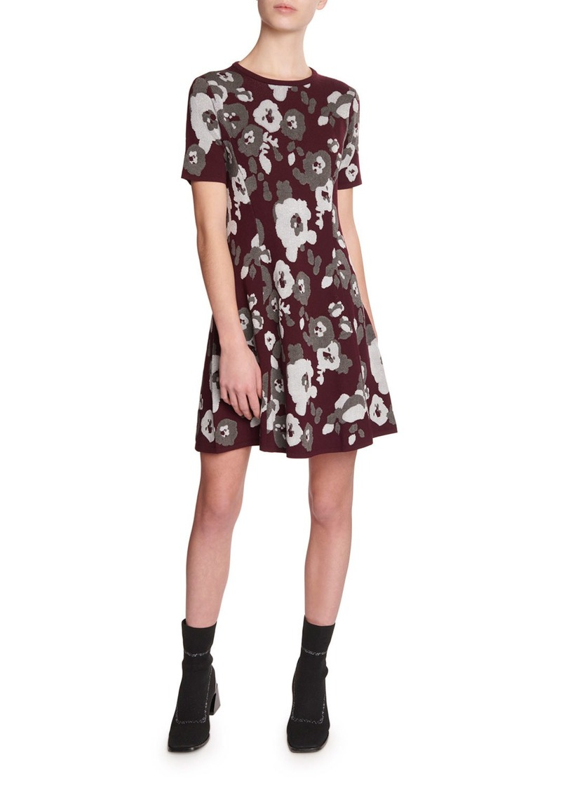 Kenzo Fit-&-Flare Jacquard Tee Dress