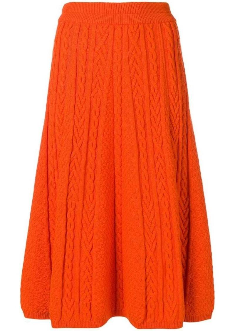 Kenzo flared knitted skirt