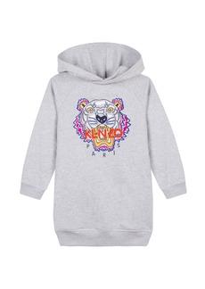 Kenzo Fleece Tiger Embroidered Hoodie Dress  Size 14-16