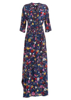 Kenzo Floor-Length Printed Silk Maxi Dress