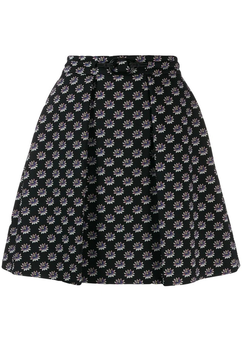 Kenzo floral embroidered skirt