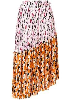 Kenzo Floral Leaf pleated skirt