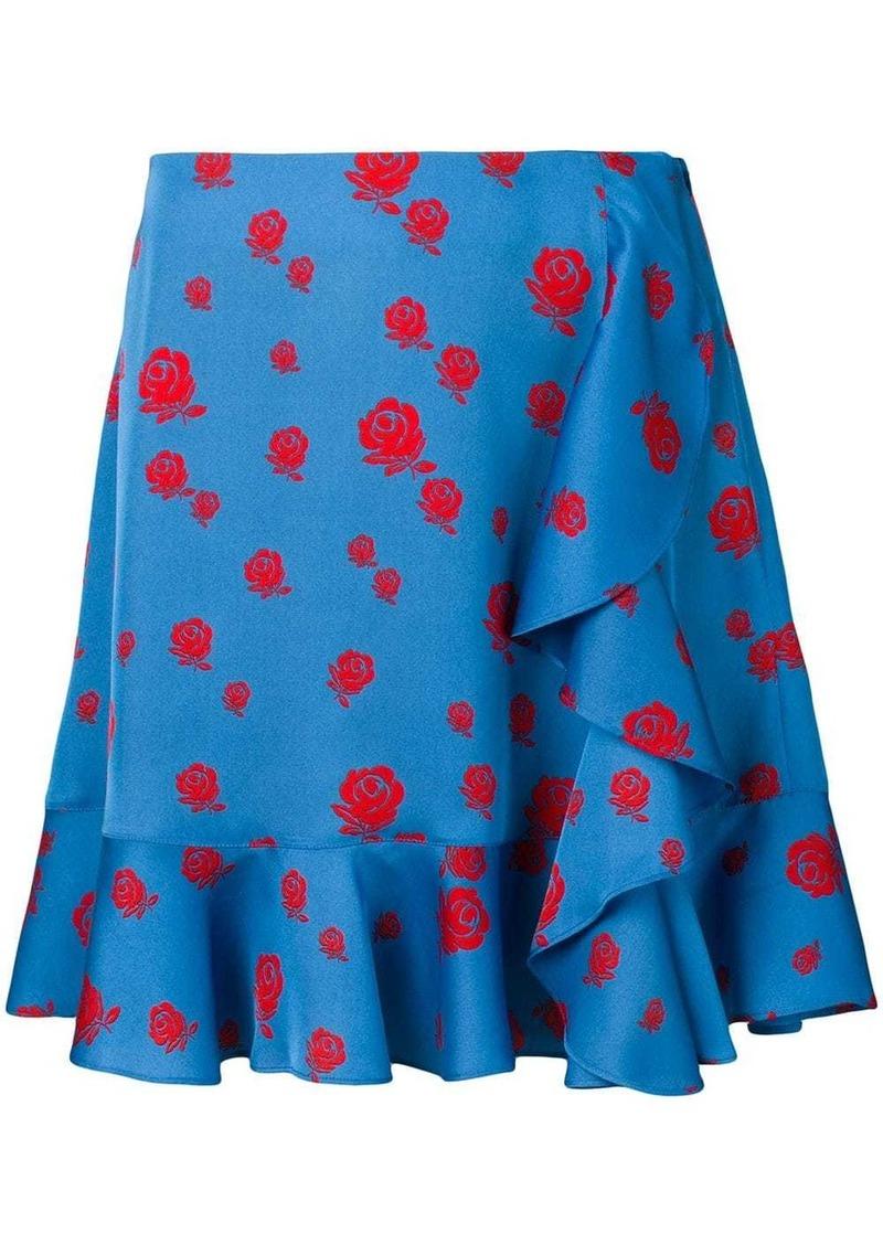 Kenzo floral print draped skirt