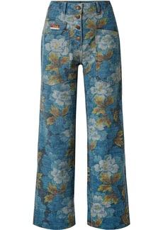 Kenzo Floral-print High-rise Straight-leg Jeans