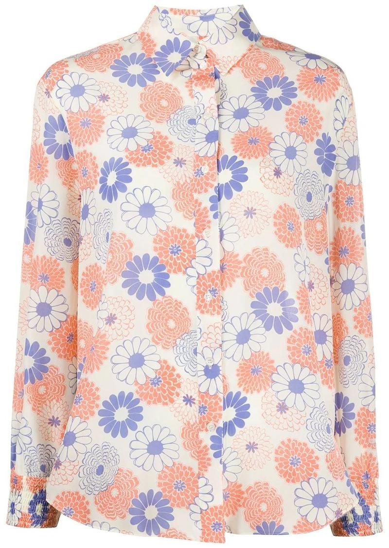Kenzo floral print long-sleeved shirt