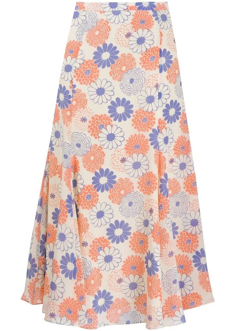 Kenzo floral-print midi skirt