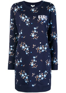 Kenzo floral print sweater dress