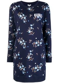 Kenzo floral print sweater dress