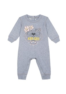 Kenzo Flower Tiger Logo Heathered Coverall  Size 3-18 Months