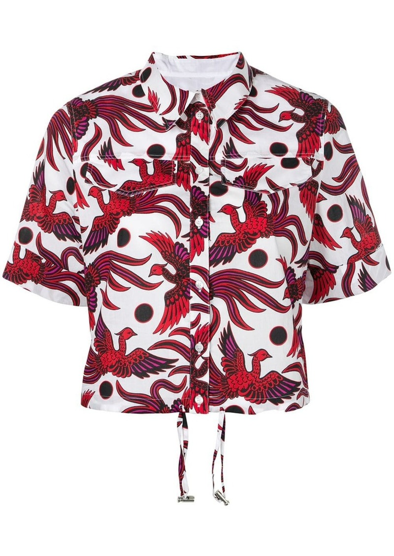 Kenzo Flying Phoenix cropped shirt
