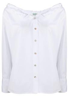 Kenzo folded-neck cotton shirt