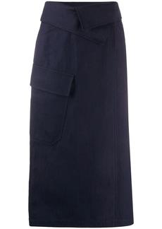 Kenzo foldover-waist midi skirt