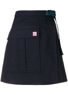Kenzo front button A-line skirt