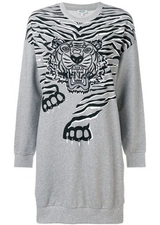 Kenzo Geo Tiger sweatshirt dress