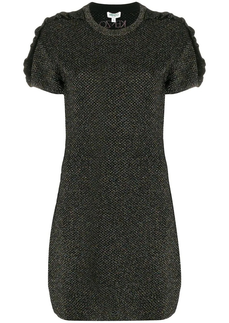 Kenzo glitter frill knitted dress