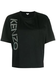 Kenzo glitter logo print T-shirt