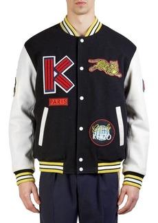 Kenzo Graphic Patchwork Varsity Jacket