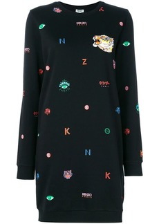 Kenzo graphic print sweatshirt dress