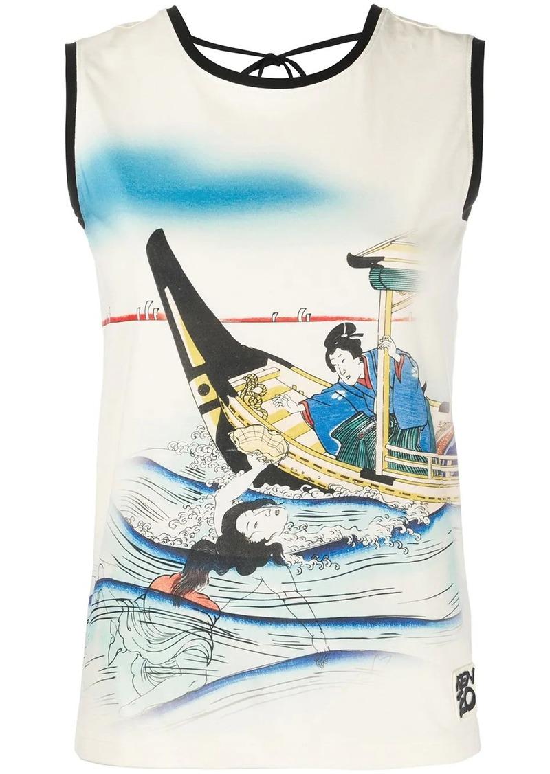 Kenzo graphic print tank top