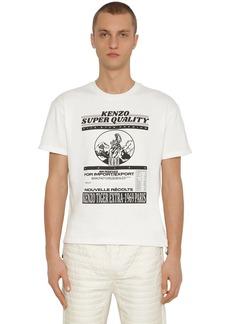 Kenzo Graphic Rice Bag Printed Jersey T-shirt